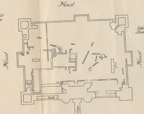 Map of Kirby Muxloe Castle