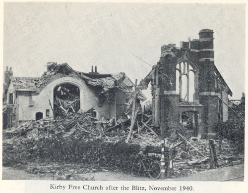 Kirby Free Church after the Blitz