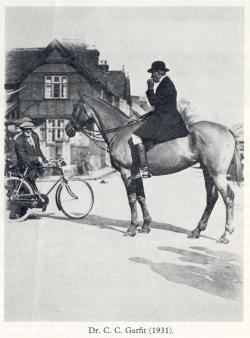 Dr Garfitt upon his horse